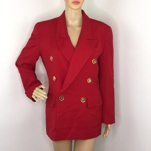 Christian Dior Red Double Breast Blazer